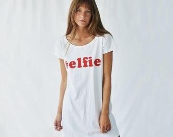 Sale Elfie Women's Christmas Nightshirt - Christmas Nightgown - Nightshirt - Nightwear- Sleepwear - Nightgowns- Christmas