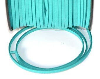 1 m suede 3 mm emerald green suede cord