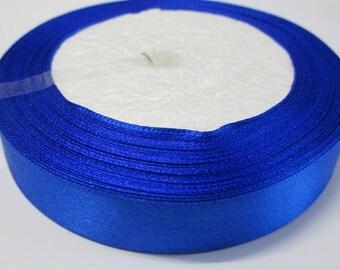 1 reel 22 m 20mm dark blue colored satin ribbon