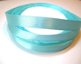 23 m 10mm reel color sky blue satin ribbon
