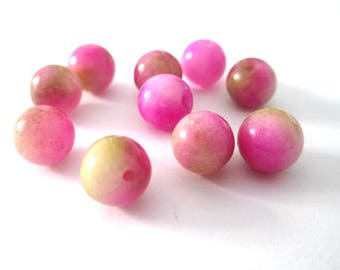 10 pearls jade natural green 8mm fuchsia (27)