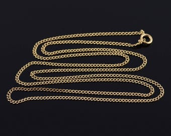 1.7mm Loose Curb Link Fancy Chain Necklace Gold