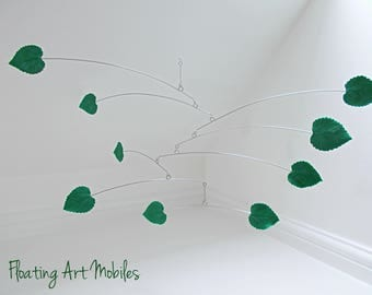 Hanging Mobile, Green Leaf, Leaf Mobile, Modern Home, Nursery Mobile, Leaf Art, Botanical Art, Crib Mobile, Jungle Theme, Nursery Decor