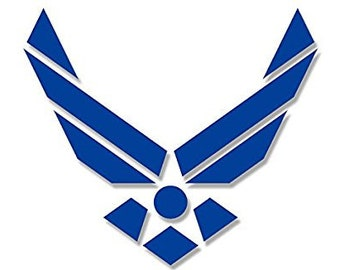Air Force WINGS ONLY Logo Sticker (usaf insignia seal military)