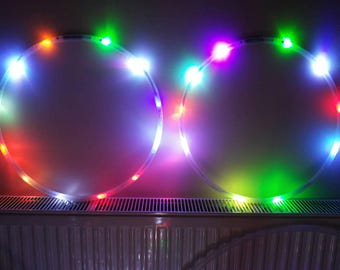 Mini rainbow Led Hula Hoops