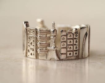 Tokyo Cityscape - Skyline Statement Ring - Gift for Her - Long Distance Relationship - Kawaii - Mothers Day