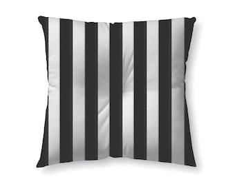 Black and White Stripes - floor pillow