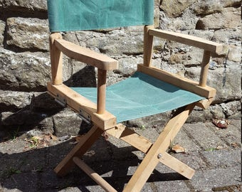Childs Directors Chair / Childs Chair / French Directors Chair / Childs Outdoor Chair / Garden Chair / Vintage French Chair / Childs Seat