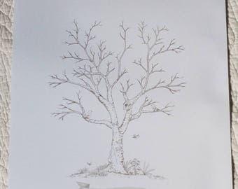 Guest book / tree prints for a wedding keepsake