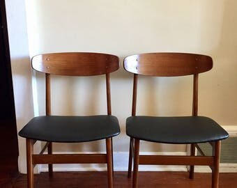 Danish Teak Dining Chairs By Sax. Vintage Dining Chairs. Teak Furniture.  Mid Century