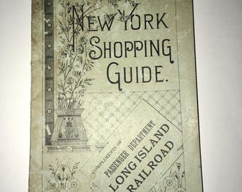 1911 NYC Shopping Guide Compliments LIRR