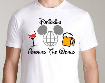 Drinking Around The World - Epcot Food and Wine Festval Shirt or Tank - Epcot Shirt - Epcot Tank Top
