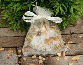 Bath tea, bath gift for her, bath salts, Epsom salts, Orange & Rosemary bath tea
