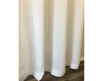 linen shower curtain white. White Linen Shower Curtains  Mildew Free 72x72 72x85 72x94 Custom shower curtain Etsy