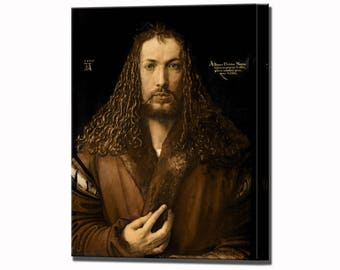 Albrecht Durer Print Self Portrait at the Age of Twenty-Eight Canvas Wall Art Print in 4 Sizes Ready To Hang