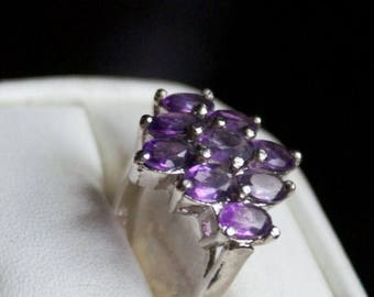 ON SALE Compelling Amethyst Silver Ring