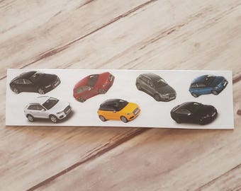 Bookmark paper with cars
