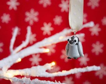 Penguin Decoration - SALE - Lampwork Penguin - Christmas Penguin - Lampwork Glass - Glass Penguin - Christmas Decoration - Festive Ornament