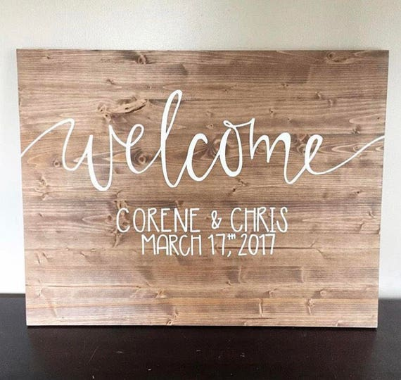 Welcome sign, welcome wedding sign, welcome wood sign, wedding welcome decorations, rustic wedding