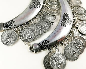 Boho Bohemien Steampunk Ethnic Tribal Belly Dance Necklace For Her Women Jewellery