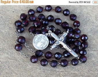 ON SALE Silver Rosary//Vintage Rosary//Rosary Beads//Catholic Rosary//Christian Gifts//Prayer Beads//Catholic Gifts//Found And Flogged
