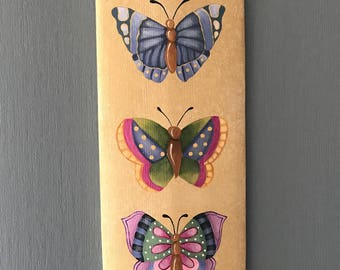 Butterfly Board, Butterfly, Barrel Stave, Sandy LeFlore, Home Decor, Butterflies
