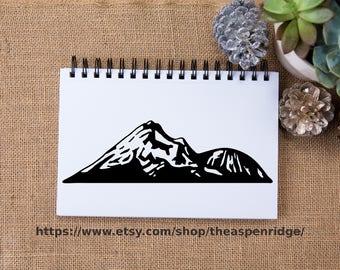 Mount Shasta clipart, vista point, mt shasta art, mountain art, mountain clip art, commercical digital design, California clipart