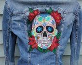 Hand painted jacket, deni...