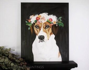CUSTOM pet painting, custom dog portrait painting, custom pet portrait, pet painting, pet portrait from photograph,