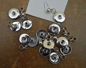 button chunk necklace 20mm lot 13 pieces