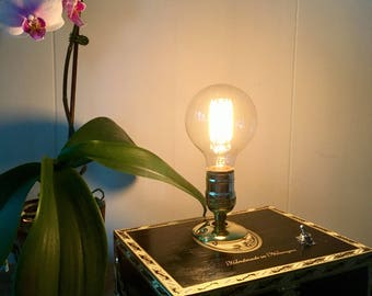 Edison cigarbox lamp