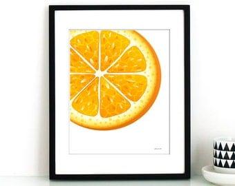 Citric Orange Kitchen Print