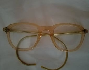 Vintage Bausch and Lomb Safety Glasses Peach 4622