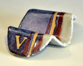 Business-card holder - V - purple multi