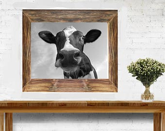 Cow - Digital Download - Farmhouse print - Modern Farmhouse Printable - Jpg - Immediate download - Dairy Cow