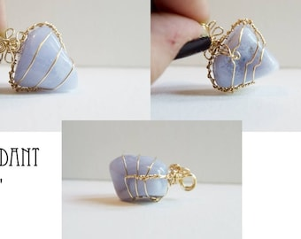 Blue Lace Agate Pendant