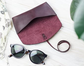 Glasses case, Leather glasses case, Sunglass case, Eyewear case, Glasses Holder, Sunglasses Holder, Сase for glasses, Leather Accessories