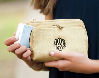 Mongram Wristet, Christmas Gift, Mini Purse, Gold purse, Vegan, Monogram gifts, Monogram Vegan, Teen gift, Christmas monogram, gift for mom
