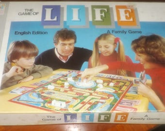 Vintage (c.1977) Game of Life board game published in Canada by Milton Bradley | Somerville Games. Complete with inside boxes.