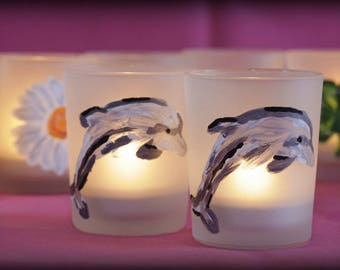 Dolphin Tea Light Candle Holder - Tealight - Candle - Dolphin - Home decor - Sealife - Water - Decoration - Fish