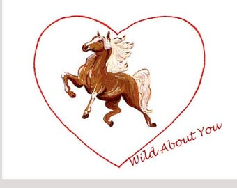 Wild About You Valentine Card Set of Eight