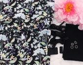DIY Soft Bra Kit Black Multi Floral Scuba Black
