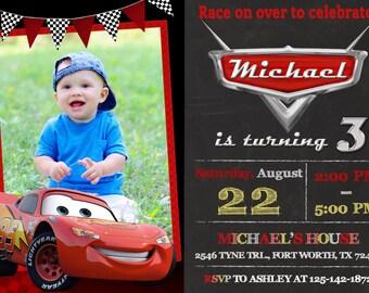 Disney Cars Invitation, Disney Cars Birthday, Disney Cars Party
