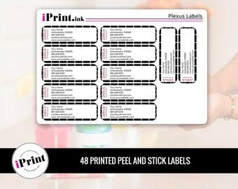 Plexus Labels, Plexus Printed Labels, Plexus Address Labels, Plexus Brochure Labels - PLX-RAL005