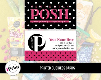 Perfectly Posh Business Card • Perfectly Posh Marketing Materials • Perfectly Posh Consultant Tools • PP-BC014