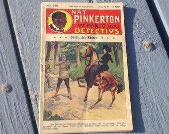 Rare Nat Pinkerton King of Detectives #236 1920's German Edition Western Comic Book Magazine