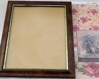 brown walnut finish photo frame & bronze/olive walnut finish photo frame