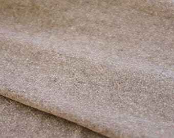 Free Shipping - Light Brown Thick Wool Knit - Made in Japan