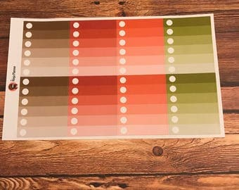 Colorful Leaves Collection: Ombré checklists