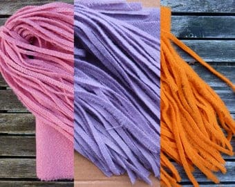 Reused Wool Strips for Rug Hooking - Various Colours